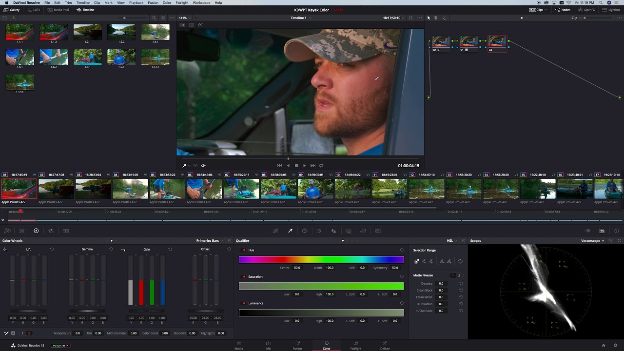 How to use GH5 HLG Files with Davinci Resolve 15