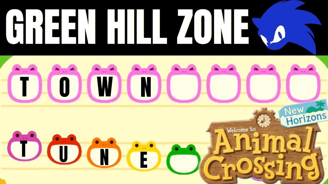 Green Hill Zone Sonic The Hedgehog Animal Crossing New Horizons Youtube