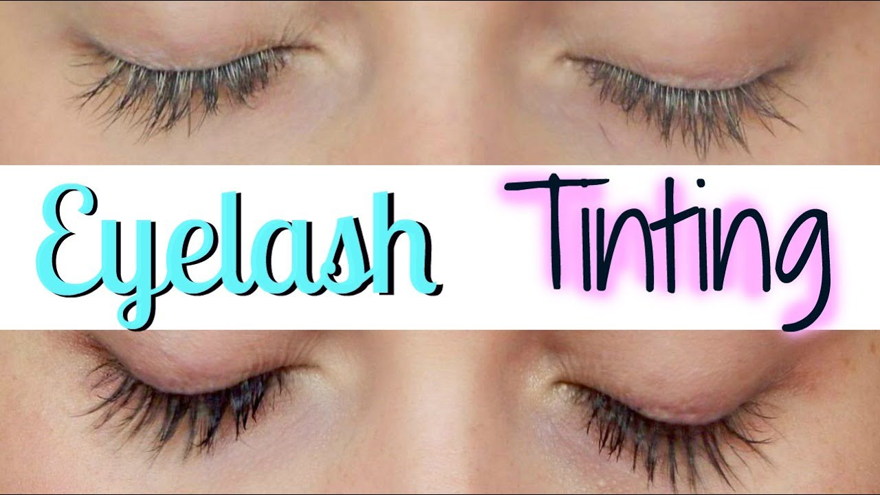 Eyelash Tinting At Home Youtube
