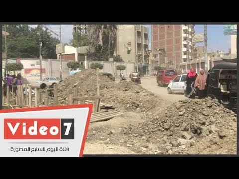اليوم السابع :أعمال حفر تنذر بسقوط طلاب 9 مدارس بالمحلة
