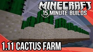 Minecraft 15-Minute Builds: Minecraft 1.11 Cactus Farm