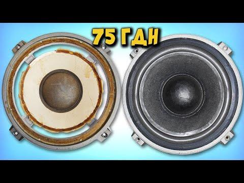 видео: Ремонт динамика 75ГДН-3, замена подвеса.