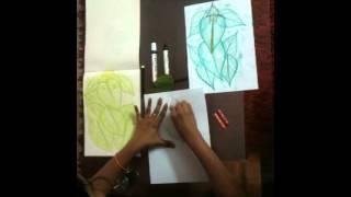 Ganesha leaf Painting for kids Part 2