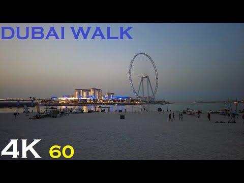 【4K】 DUBAI – Ain Dubai World's Tallest Ferris Wheel /Bluewaters Island / Dubai Marina Beach Towers