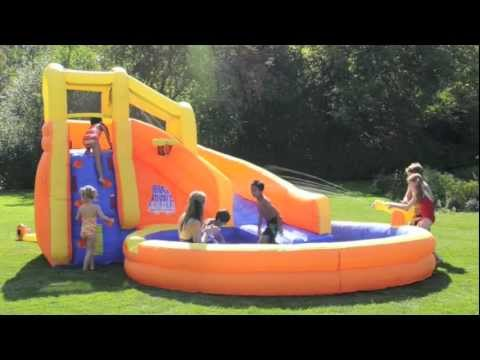 banzai backyard water slide typhoon twist from one step ahead - Blow Up Water Slides