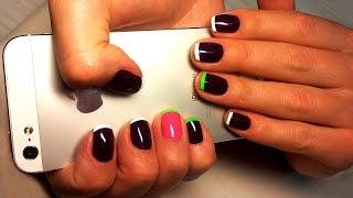 Дизайн ногтей гель-лак shellac - Французский маникюр - Френч (видео уроки дизайна ногтей)