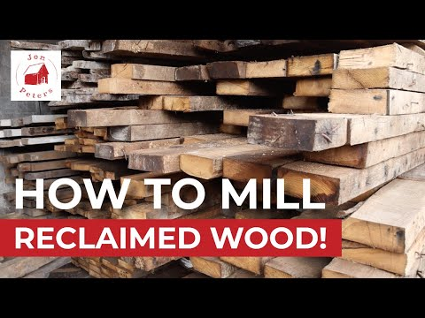 How to Mill Reclaimed Wood:  New Jersey Barn Salvage Part 3