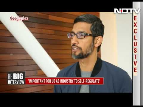 NDTV Interview with Sundar Pichai Latest