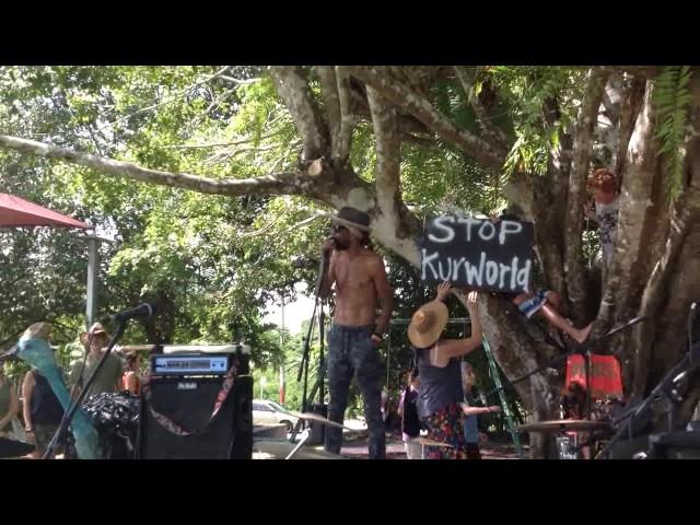 RALLY AGAINST KUR-WORLD KURANDA 26 MAR 17 -Willie Brim, Buluwai Traditional Owner/Cultural Custodian