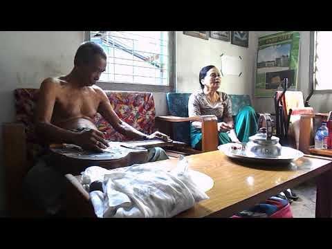 Classical song of Myanmar by armaature singer and musician