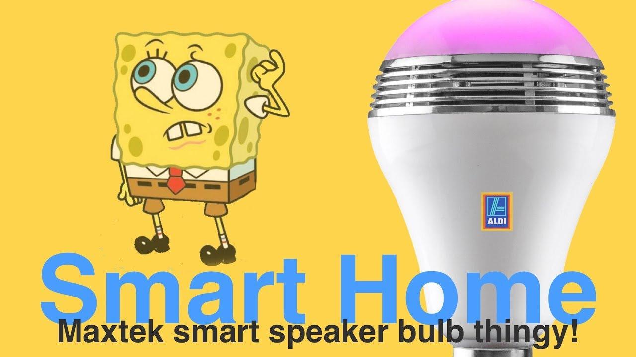 Maxtek Smart Speaker Bulb Cheap But Good Because You
