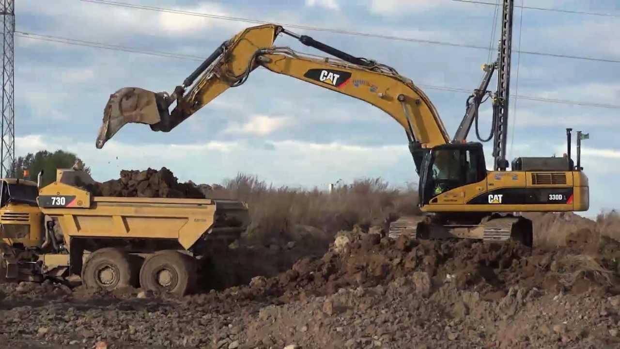 hight resolution of cat 330d loading cat 735 730 ejector