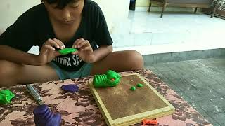 Tugas Online SD membuat Patung Plastisin ll how to make a pig with playdough