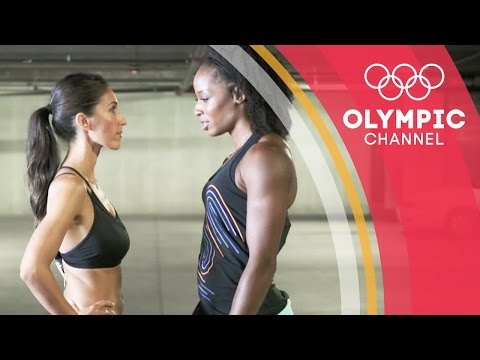 How will YouTuber Susana Yabar fare in Natasha Hastings' Athletics workout? | Hitting the Wall