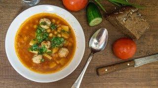 Суп с горохом нут и фрикадельками