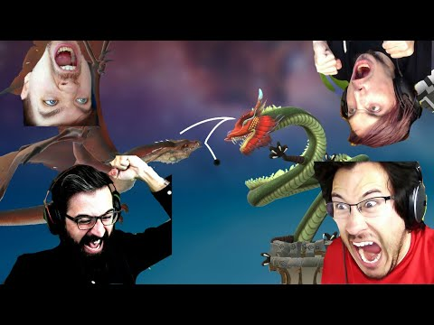 DOWN THE DRAGON HOLE!!! - Golfing Over It with Alva Majo (Pt. 3)