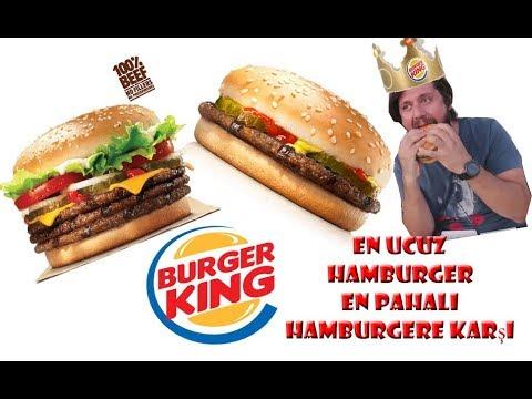 En Ucuz Hamburger En Pahalı Hamburger