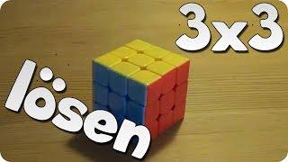 3x3 Rubik's Cube / Zauberwürfel lösen | abgeänderte Anfängermethode