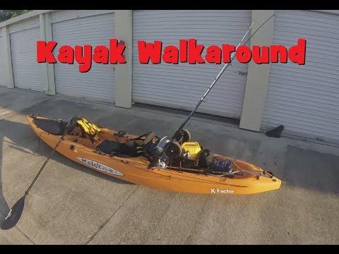 Malibu Customized Fishing kayak walkaround
