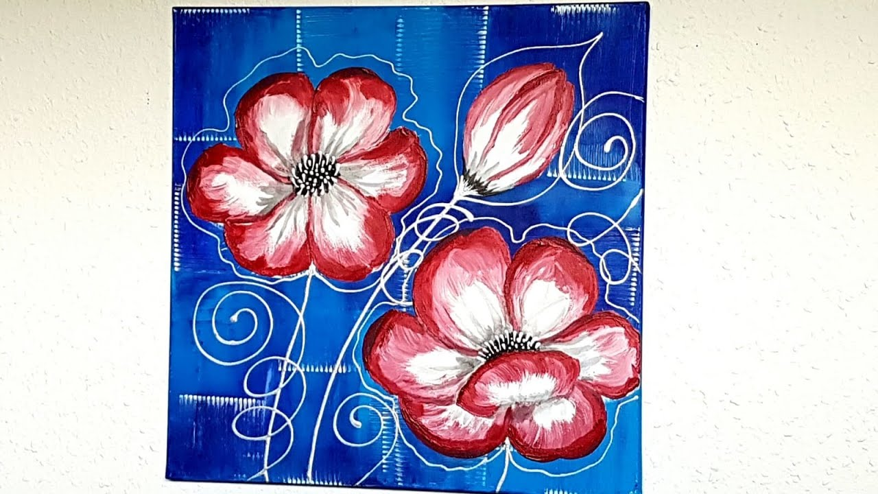 New Life Collection Soothing Blossoms 2 Blumen Malen Acryl