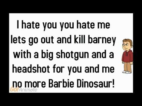 Barney song Remix I hate you