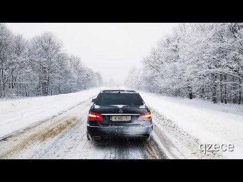 4matic в снегу | Mercedes E Class | W212 | E250cdi | Qzece