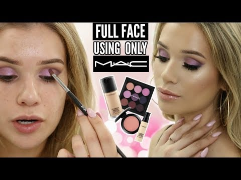 FULL FACE Using MAC HauteLook Products! (ONE BRAND Tutorial)