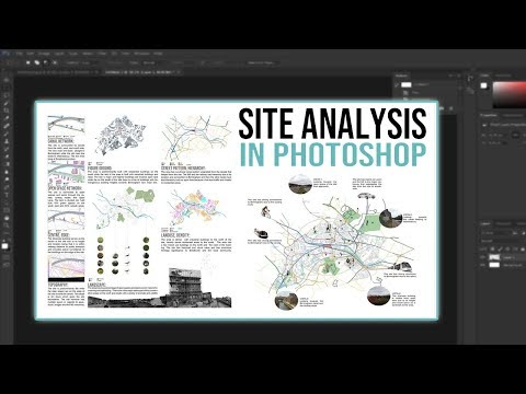 Architecture Site Analysis Presentation Guide | Photoshop Tutorial