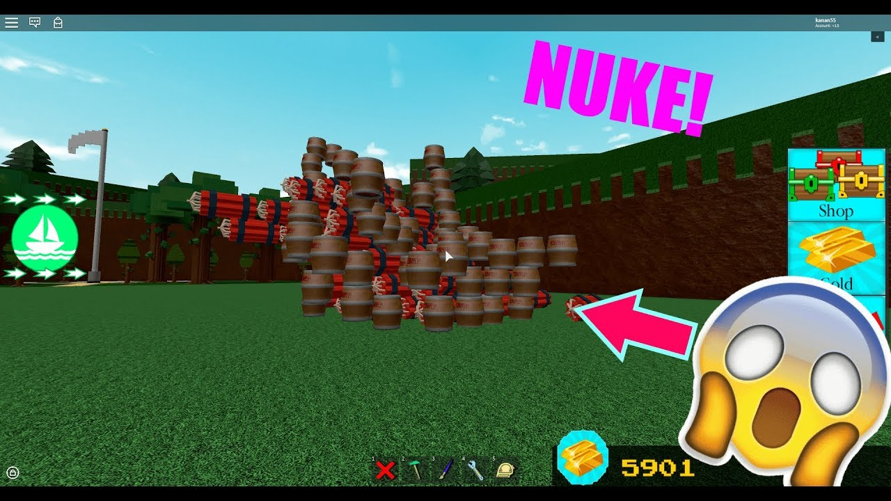 How To Explode Tnt In Build A Boat Youtube