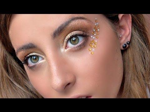 halloween makeup golden greek goddess youtube