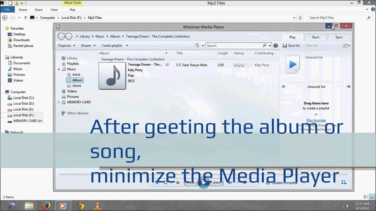 Windows media player 11 album art not updating