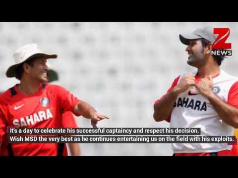 MS Dhoni steps down as captain: Here's how Virat Kohli, Sachin Tendulkar congratulated Captain Cool