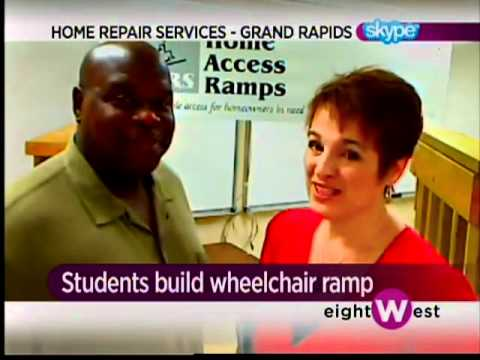 What's Brewing? Students build wheelchair ramp