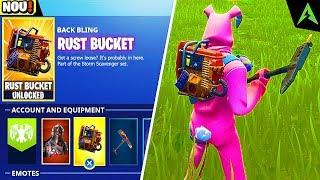 "FREE NEW ""Rust Bucket"" BACK BLING for all on FORTNITE!"