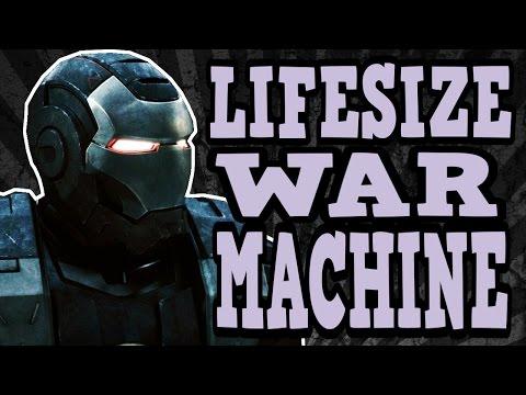 My Lifesize WAR MACHINE ( IRON MAN 2 ) Costume / Statue Cosplay Pepakura