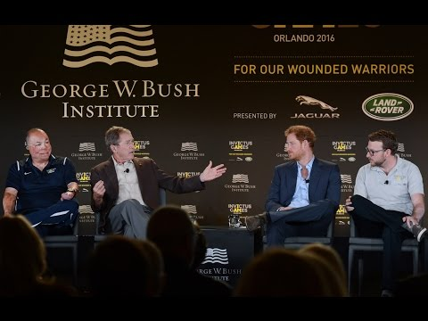 President George W. Bush and Prince Harry at the Invictus Games Symposium