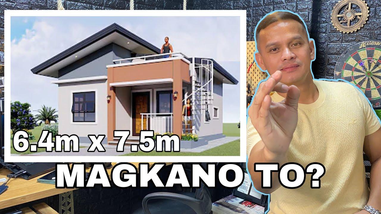 Download SMALL HOUSE MAGKANO ITO? 6.4mx7.5m=48sqmtrs
