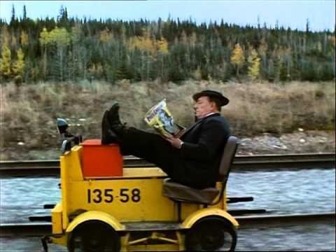 "Buster Keaton in ""The Railrodder"" (1965)"