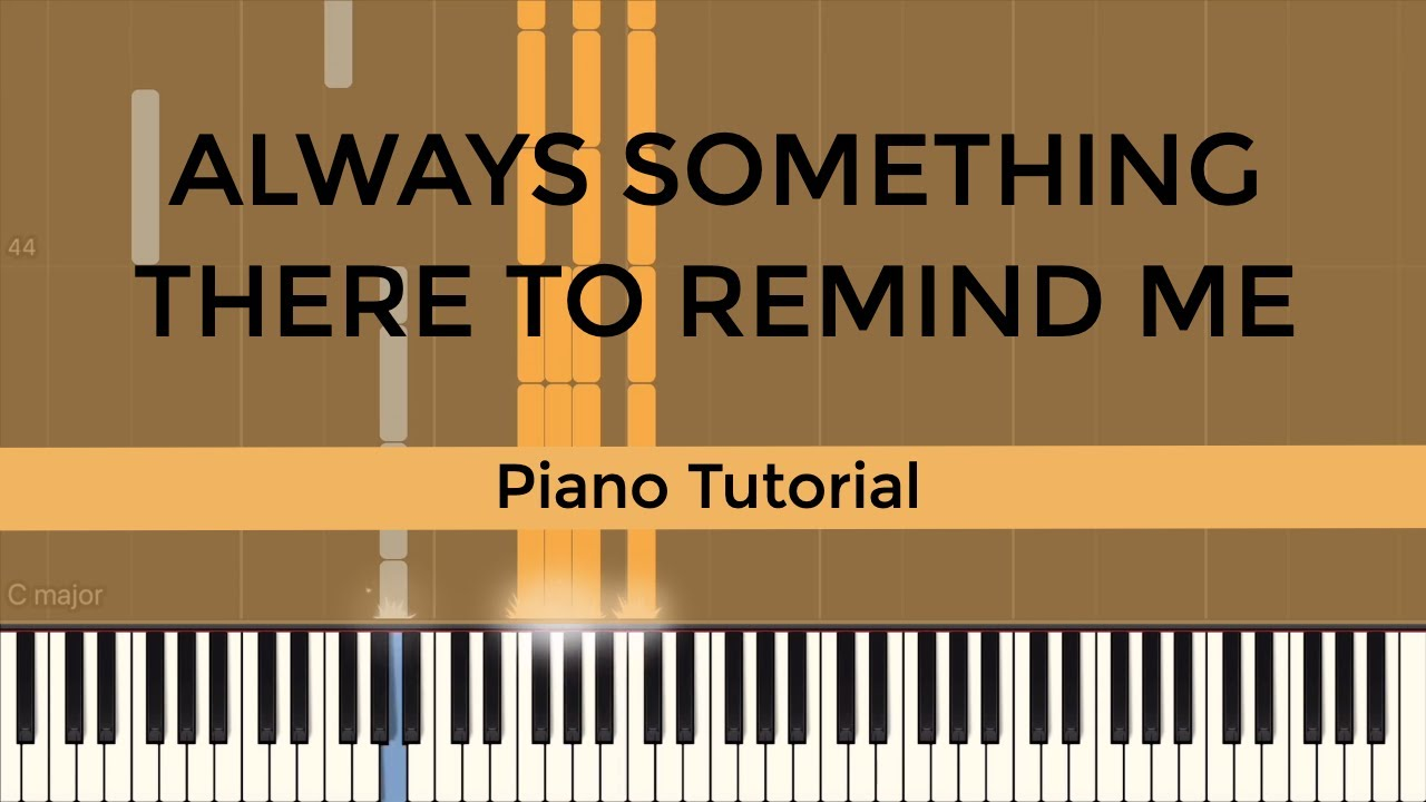 Always Something There To Remind Me - Piano Tutorial