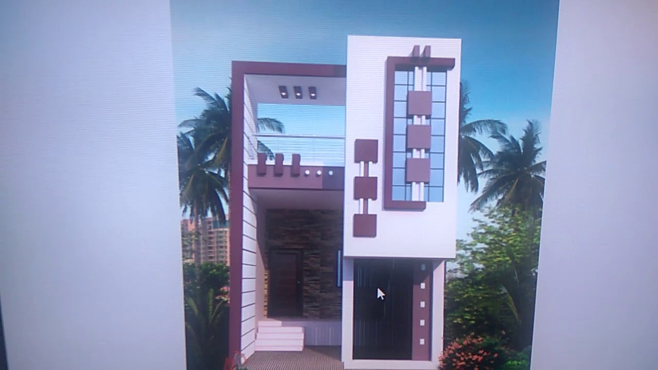 15*50 House Front Elevation