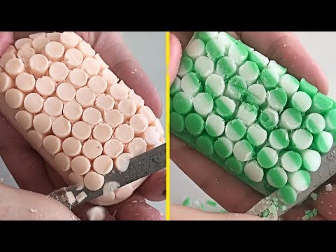 Most Satisfying Soap Carving ASMR Video ! relaxing sound (no talking) ! P01