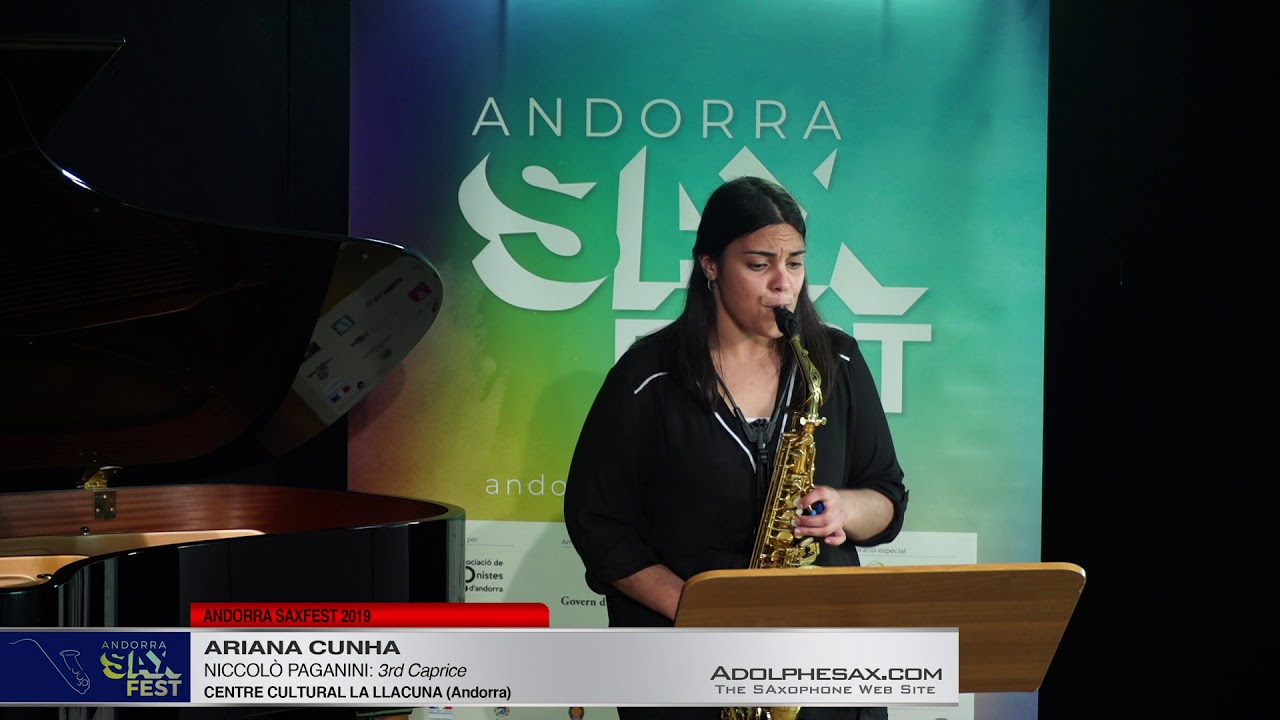 Andorra SaxFest 2019 1st Round   Ariana Cunha   3rd Caprice by Niccolo Paganini