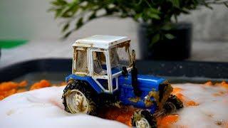 Видео про трактора. Мойка. Видео для детей с рабочими машинами