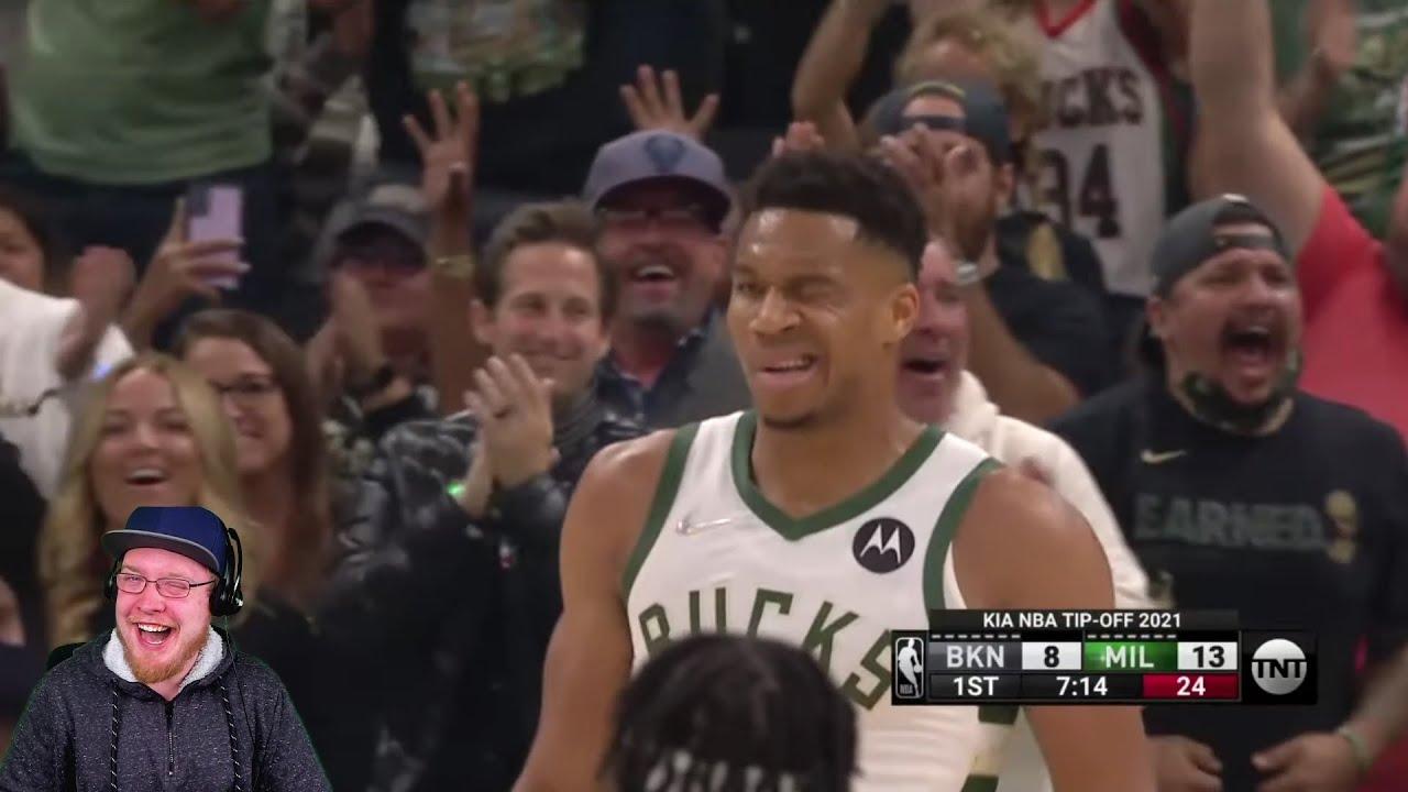 FIRST NBA GAME! Reacting to Brooklyn Nets vs Milwaukee Bucks | 2021 NBA Season
