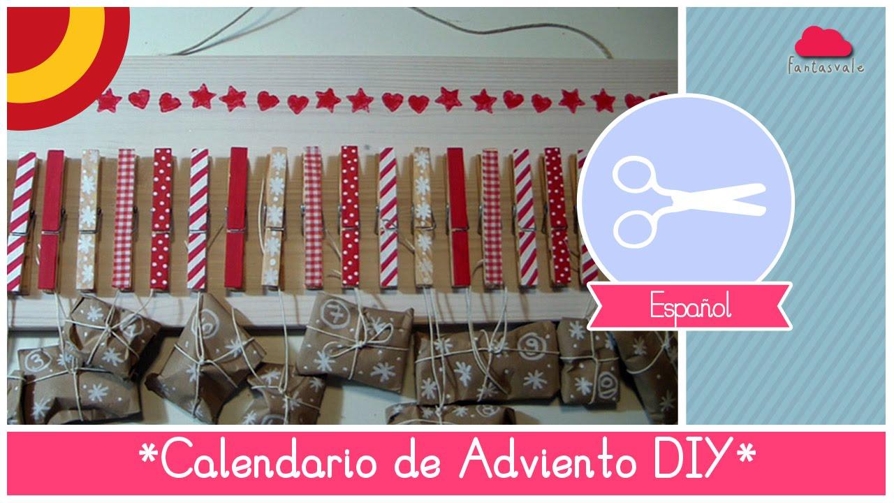 manualidad de navidad como hacer un calendario de adviento con pinzas de tender youtube