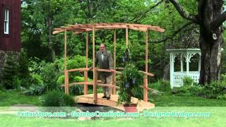 Monet's Red Cedar Bridge With Curved Wisteria Canopy With Derek Fell