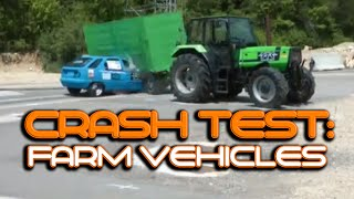 Tractor Crash Test Video: Farm Vehicles And Tractors In Crash Test Video Compilation