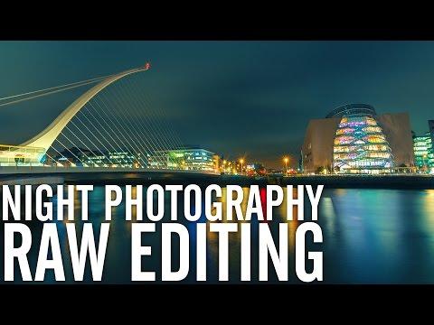 Urban Night Photography RAW editing
