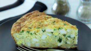 ХИТ Вкуснейший пирог с яйцами и зеленым луком Лучше пирожков Быстро и вкусно