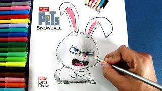 Dibujando a SNOWBALL (La Vida Secreta de tus Mascotas) | Drawing Snowball (The Secret Life of Pets)